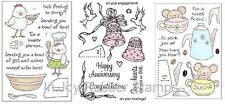Inky Antics HONEYPOP Clear Stamp Set Chicken Soup, Birds & Bells, Coffee Mouse