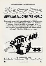 STATUS QUO Running All Over The World PHOTO Print POSTER Sport Aid 1988 01