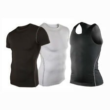 Mens Boys Body Armour Compression Baselayers Thermal GYM Under Shirt Top Skins