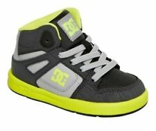 DC Rebound Ul Gray Yellow Black Infant Toddler Baby Boy Shoes Size 5-10  #320167