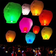 Chinese Paper Sky Flying Wishing Lantern Lamp Candle Party Wedding Wish U Pick