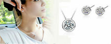 Beautiful Sterling Silver *Dot* Engagement Wedding Party Set: Necklace & Earring
