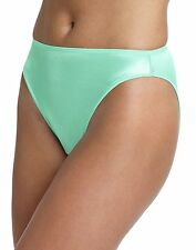 Hanes Women's 2-Pack Satin Stretch Hi-Cut Panty,Assorted Colors, Size 6,7,8,9,10