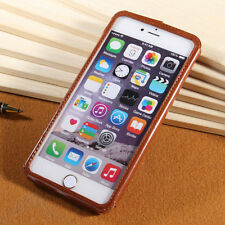Slim With Fragrance Push Insert Genuine Leather Case Cover For iPhone 6 Plus