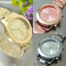 Fashion New Ladies Women Charm Stylish Unisex Stainless Steel Quartz Wrist Watch