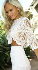 Beautiful long sleeve  BALMAIN WHITE CROCHET TOP from LOVE INDIE BNWT 6 - 12