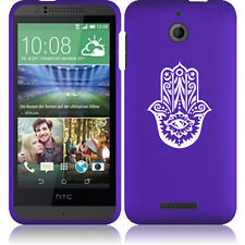 For HTC Desire 510 Rubber Hard Snap On 2 Piece Case Cover Hamsa Hand