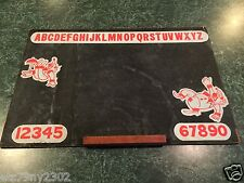 "Vintage Childrens Clown UnFramed ABC's Alphabet Numbers Chalkboard - (24"" x 16"")"