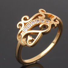 SPECIAL lady knot ring 24k yellow gold filled white topaz ring Size5.5&6.5&8