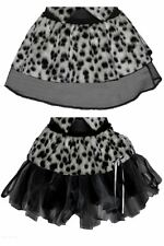 Childrens Cyber Or Pleated Dalmatian Fur Cruella Deville Fancy Dress Tutu's