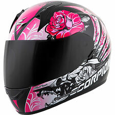 Scorpion Ladies EXO-R410 Full Face Helmet Novel Graphic Pink Free Size Exchange