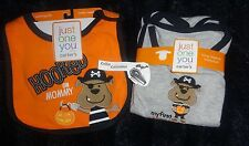 Carters Infant Boys My First Halloween LS Pirate Bodysuit & Bib NWT 3, 6 & 9 mth