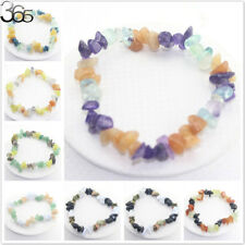 So beautiful! Jewelry Natural Stone Mixed Gemstone Chip Beads Stretchy Bracelet