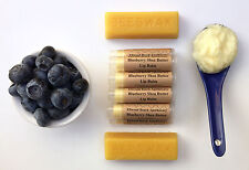 All Organic Blueberry Shea Butter Lip Balm All Natural Beeswax Baobab