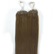 """18"""" Indiano Remy Premier Loop Micro Ring 100% Extension Veri Capelli AAA* UK"""