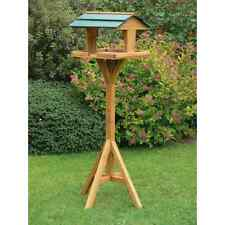 TRADITIONAL WOODEN BIRD TABLE FEEDER HANGING OR FREE STANDING FAST POSTING