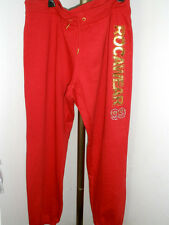 NWT Womens Rocawear Sweat Pants - Red w/Gold Size 2X (MSRP $69)