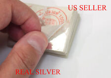 "USA Seller  GENUINE REAL PURE SILVER   LEAF GILDING SHEET  2"" X 2"""