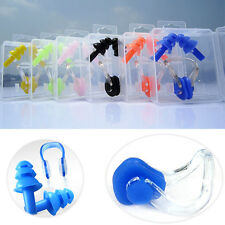 Soft Silicone Swimming Nose Clip and Ear Plug Set For Adults Kids Unisex Safety