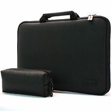 """7"""" - 17.3"""" Memory Foam Laptop Carrying Case Sleeve Protect Bag Synthetic Leather"""