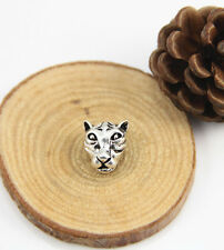 50 Tibetan Silver Tigar Heads Bead Connector Spacer Charm 13x12mm for DIY js128