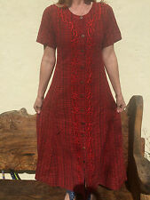 Ladies Full Length Maxi Dress Red + Purple, Gothic Witchy, Steampunk 10 12 14