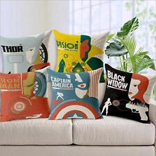 Home Decor Cotton Back Cushion Cover Throw Pillow Case Avengers 2 Age of Ultron