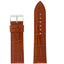 Tech Swiss LEA240 Watch Band Light Brown Leather Crocodile Grain