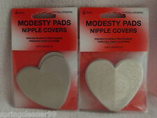 HEART SHAPED NIPPLE COVERS~ MODESTY PADS ~ HYPOALLERGENIC ~ PLAIN & PATTERNED