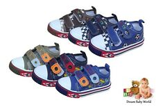 Boys Toddler canvas shoes / trainers size 3 - 7 UK - in 3 colours NEW!!