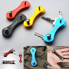 Hard Oxide Aluminum Key Holder Organizer Clip Folder Keychain EDC Pocket Tool