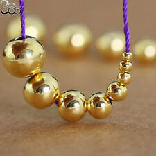 2 Pcs Round Gold Plated Sterling Silver Jewelry Making Beads Spacer Craft