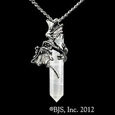 HOBBIT Official SMAUG CRYSTAL WRAP Sterling Silver & Quartz LOTR Dragon Necklace