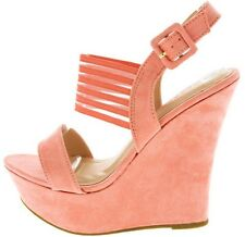 Bamboo Woman Shoes High Platform Peach Sandal Summer Style Different Size