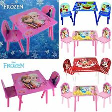 Disney Childrens Table and Two Chairs Set Kids Bedroom Playroom Furniture Set