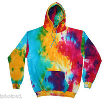 NWOT Tie Dye Unisex Multi-color adult hoodie, sizes Small/Med/Lg/XL/2XL/3XL