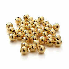 14k solid gold 2mm 3mm 4mm  round polish beads  (price for 10 pieces )