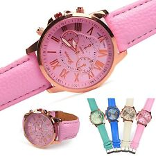 Women Ladies Girl Geneva Silicone Quartz Jelly Golden Crystal Stone Wrist Watch