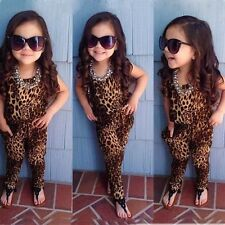 Baby Kids Girls' Clothing Leopard Short Sleeved One-pieces Romper Jumpsuits TO#