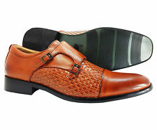Men's Dress Shoes Majestic Cognac Slip On Loafers Italian Style Leather Lined