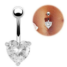 Navel Ring Belly Rhinestone Button Bar Heart Star Cute Body Piercing Jewelry New