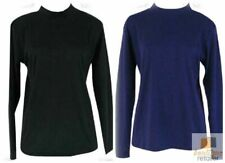 Plus Size Womens Skivvy Turtle Neck Long Sleeve Top Skivvies High 18-24 8088 New