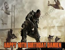 Call of Duty Personalized Edible Print Premium Cake Topper Frosting Sheet 5 Size