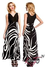 Sexy Maxi Dress Summer Long Beach Sundress Pinafore Black White Slim Fitted Tie