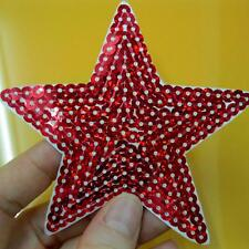 Star Sequins Iron on Sew Patch Applique Badge Embroidered Baby Applique Biker