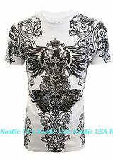 All New Konflic MMA NWT Fearless Eagle with Crown Men's Graphic T Shirt