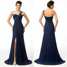 DISCOUNT~GK One Shoulder Long Masquerade Ball Gown Party Bridesmaid PROM Dresses