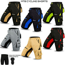 NEW MTB Cycling Short Off Road Bicycle With CoolMax Padded Liner Shorts All Size
