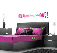 Crazy Little Thing Called Love (Queen / Elvis) Lyric wall decal sticker quote