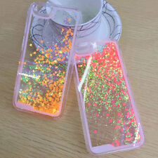 Sparkle Dynamic Love Peach Glitter Quicksand Case Cover For iPhone 5 5s 6 6plus